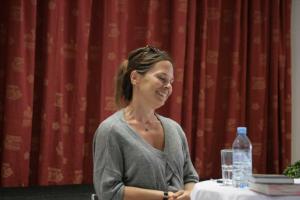 Anna Baar (einleitende Vorlesung, 17.8.2019) | Foto: Štefan Pinter