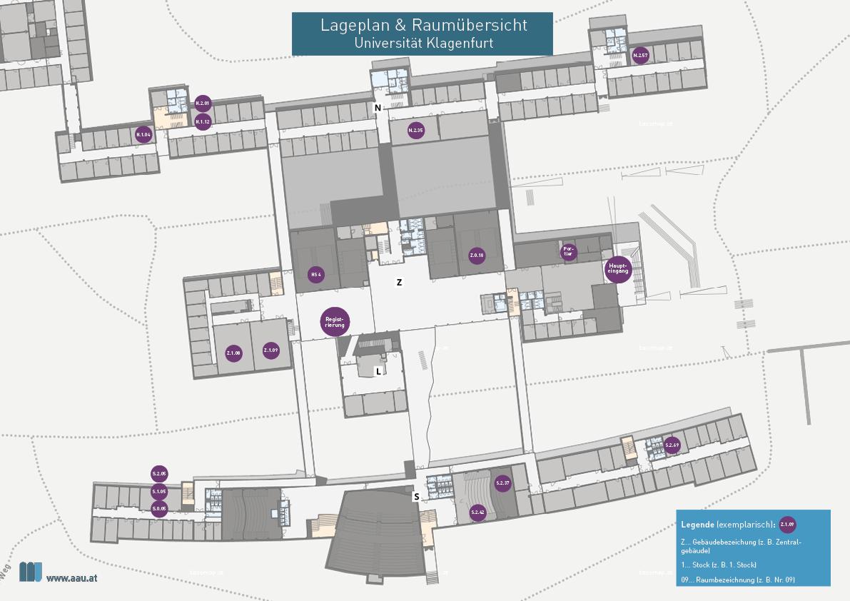 Lageplan & Übersicht Komm MIT Tag