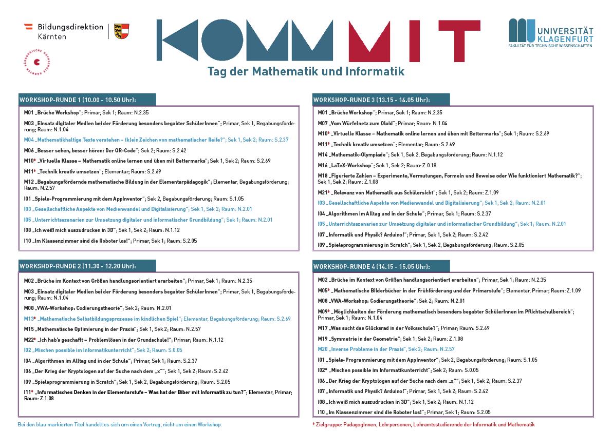 Komm MIT 2019 | Workshop-Runden