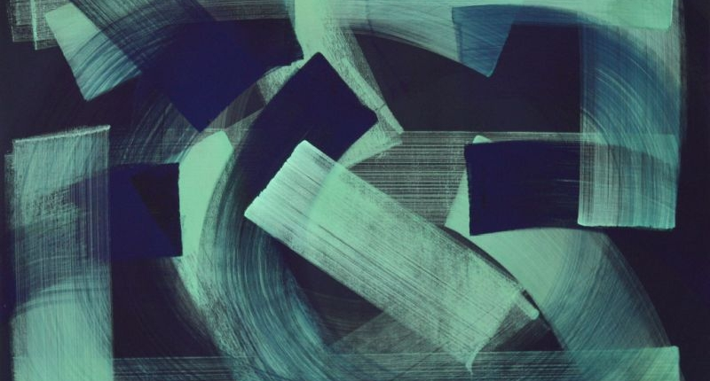 Claudia Hirtl, Hauptsatz 1054, Tempera auf Leinwand, 200x250x3 cm, 2019   Foto: Claudia Hirtl