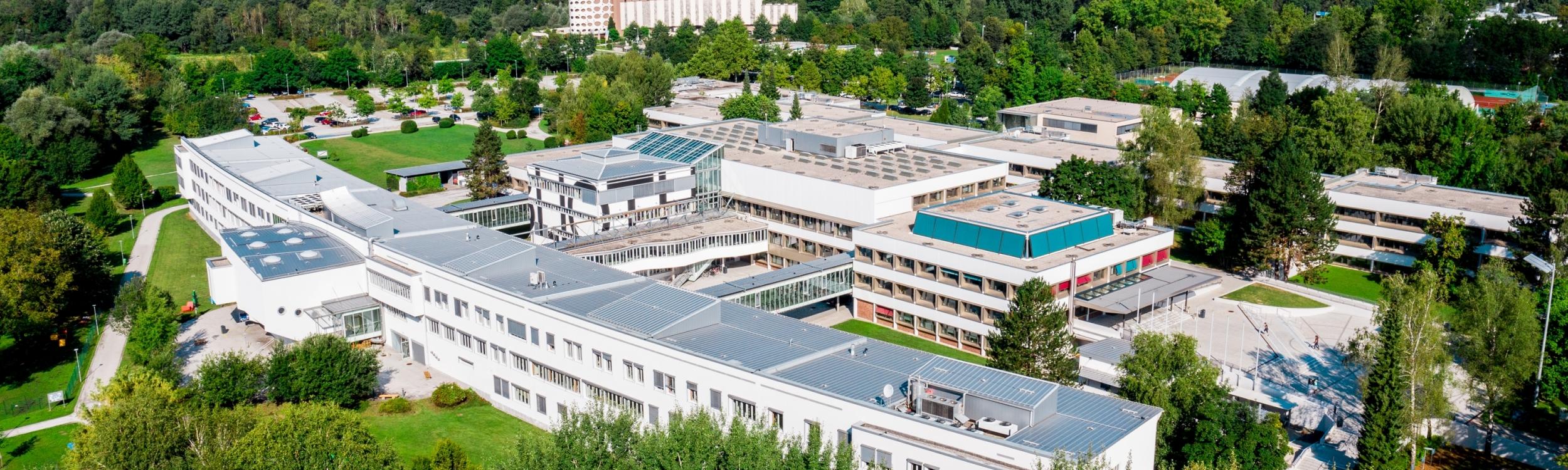 Luftbildaufnahme der Universität Klagenfurt 2019