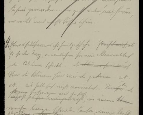 Bildnachweis: Handschriftenseite aus dem Schnitzler-Nachlass, Cambridge University Library, A 150,2.
