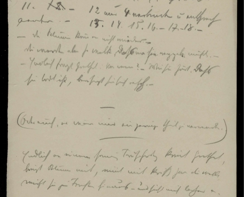 Bildnachweis: Handschriftenseite aus dem Schnitzler-Nachlass, Cambridge University Library, A 150,1.