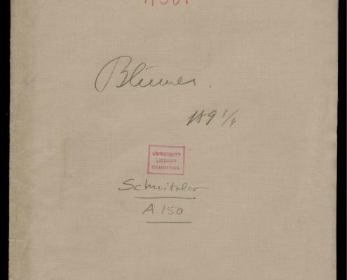 Bildnachweis: aus dem Schnitzler-Nachlass, Cambridge University Library, A 150,1.