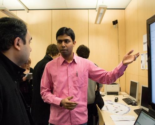 DI Sandeep Katragada bei einer Präsentation Copyright DI Sandeep Katragada