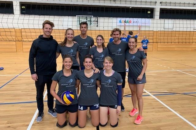 USI Klagenfurt Teamfoto Volleyball Innsbruck 2019