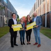 Roland-Mittermeir-Preis-2018 (v.l.n.r.): C. Inzko (Obmann), V. Pachatz (1. Platz), A. Jellen (1. Platz), M. Saringer (Vorstandsmitglied). (c) Christian Mairitsch (Alturos Destinations)