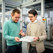 Martin Gebser und Matthäus Hirsch im Gespräch