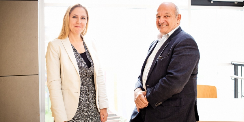 Heather Foran und Primar Wolfgang Wladika im Gespräch