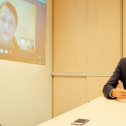 Interview via Skype mit Michael Marketz und Nina Hampl | Foto: aau/photo riccio