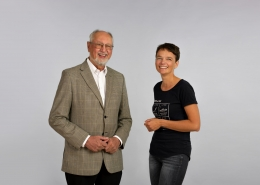Winfried Müller und Barbara Wiegele im Gespräch | Foto: aau/photo riccio