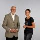Winfried Müller und Angelika Wiegele im Gespräch