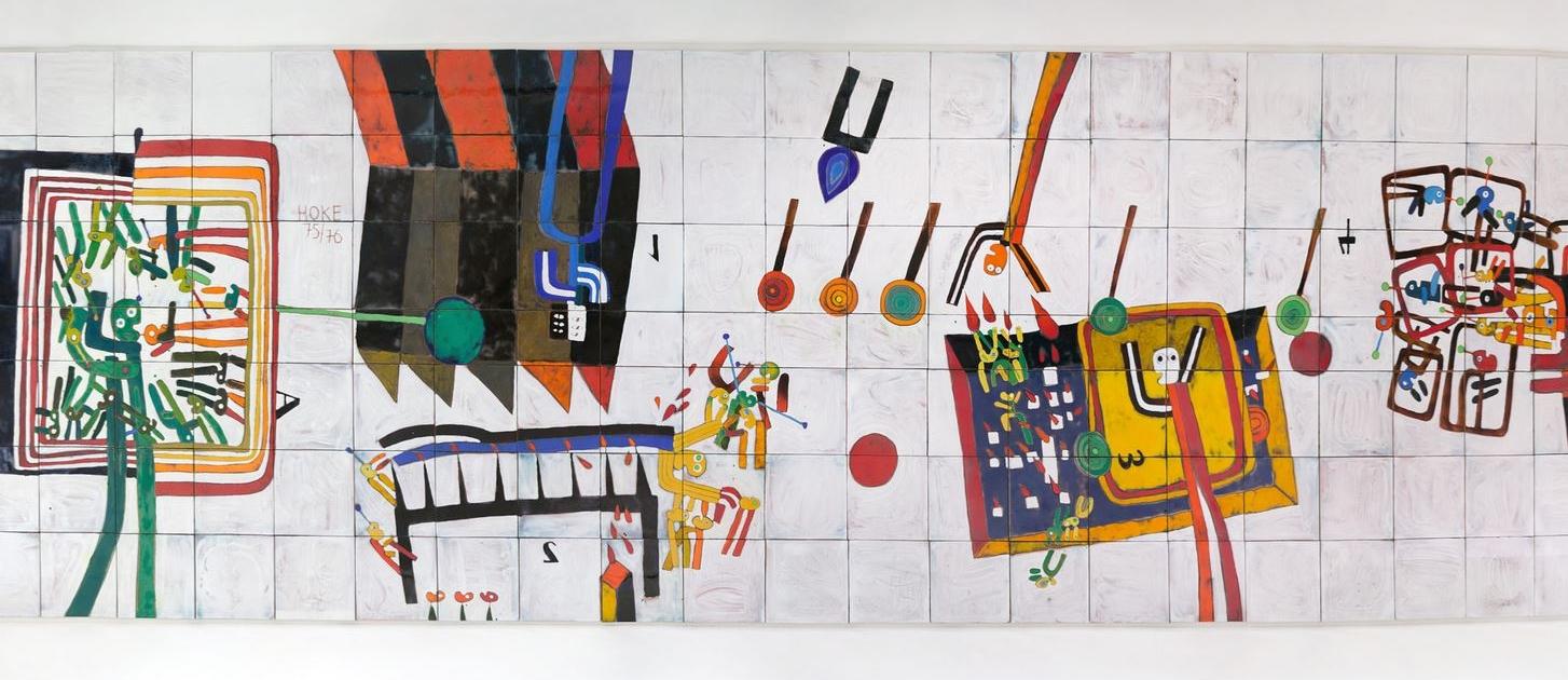 Philosophicum oder Die Schule von Athen, 1976, Giselbert Hoke 1976