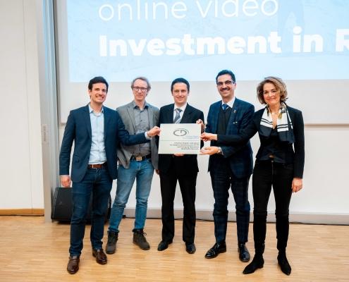 v.l.n.r.: Stefan Lederer, Christopher Müller, Christian Timmerer, Martin Gerzabek, Ulrike Unterer