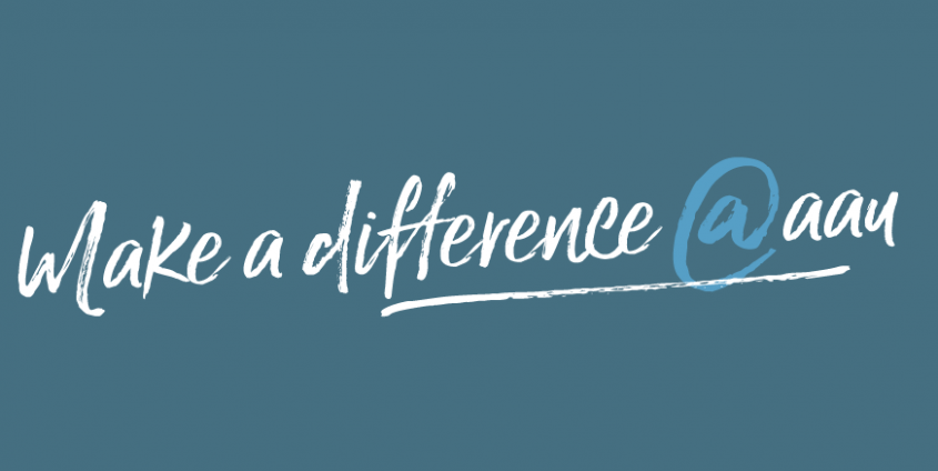 Make a difference LOGO blau | big bang aau