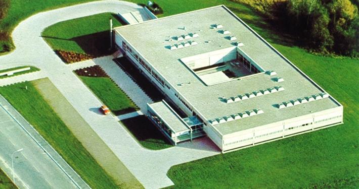 Luftaufnahme Vorstufengebäude in den 1970er Jahren