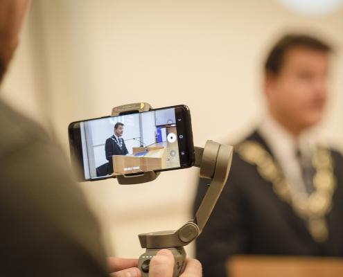 Rektor Oliver Vitouch bei seiner Festrede | Foto: Helge Bauer