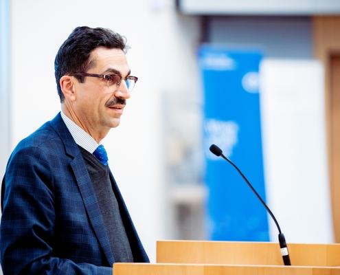 Grußworte von Martin Gerzabek, Präsident der Doppler Forschungsgesellschaft | Foto: aau/Daniel Waschnig
