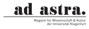 Logo ad astra - Magazin für Wissenschaft und Kultur der Universität Klagenfurt