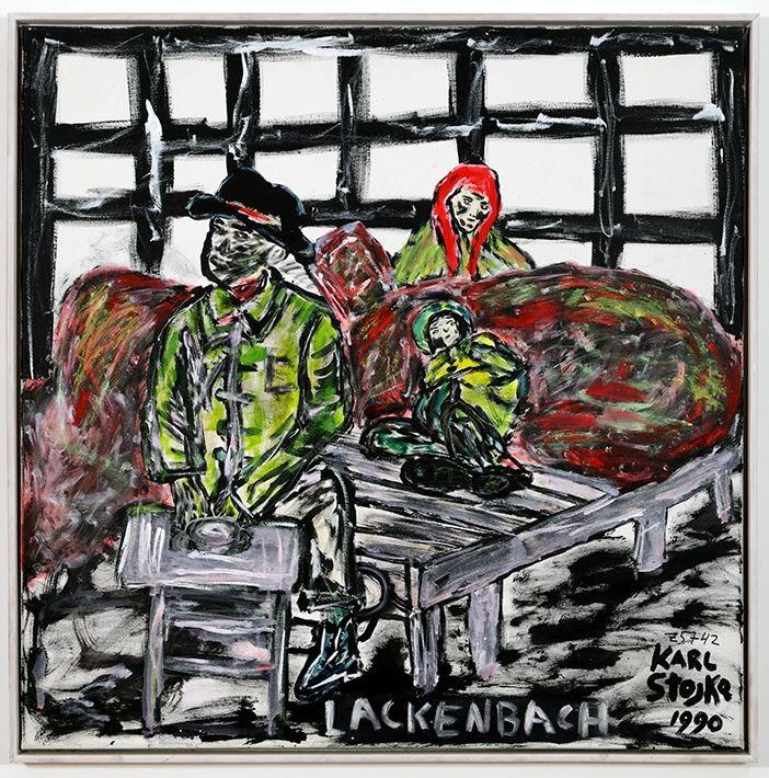 Kunst auf dem Campus, Karl Stojka: Lackenbach, 1990