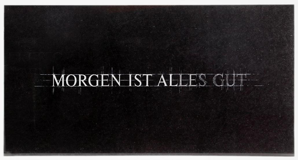 Kunst auf dem Campus, Arnold Reinthaler: MORGEN IST ALLES GUT, 2006