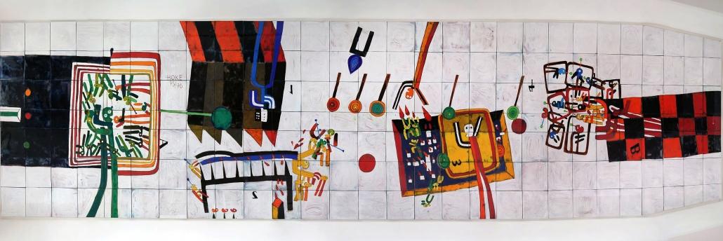 Kunst auf dem Campus, Giselbert Hoke: Philosophicum oder Die Schule von Athen, 1976