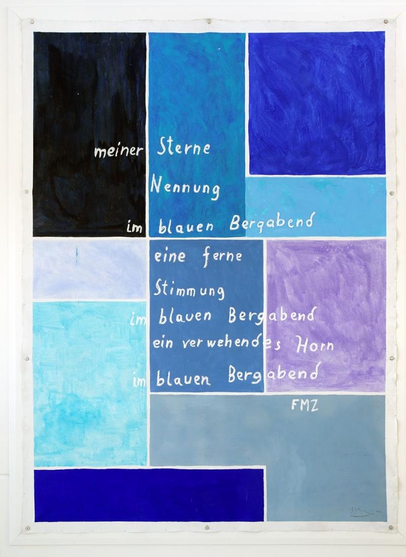 Kunst auf dem Campus, Johanes Zechner: meiner Sterne, Mayröcker-Zyklus, 2009