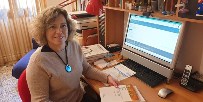 Cristina Gavagnin im Home-Office