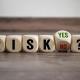 Holzwürfel mit Buchstaben | Risiko