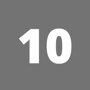 Zahl 10 auf grauem Hintergrund