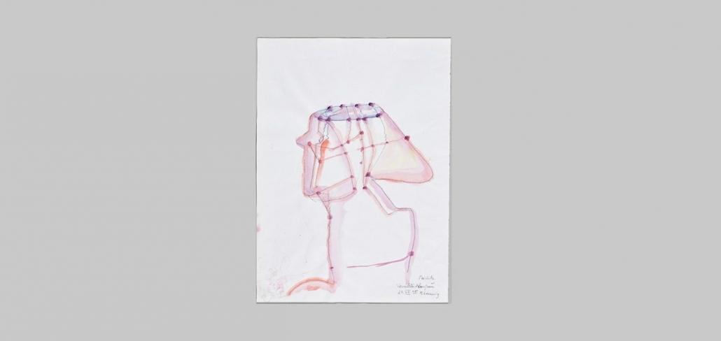 Maria Lassnig: Vernetzte Almfrau, 1995   Maria Lassnig Stiftung