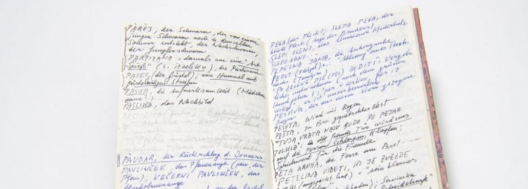 Peter Handkes Notizbuch