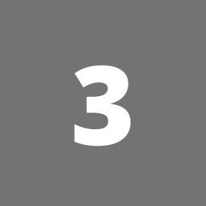 Zahl 3 auf grauem Hintergrund