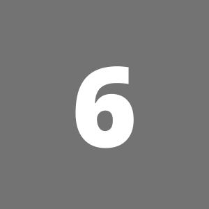 Zahl 6 auf grauem Hintergrund