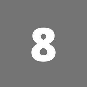 Zahl 8 auf grauem Hintergrund