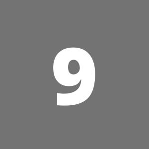 Zahl 9 auf grauem Hintergrund