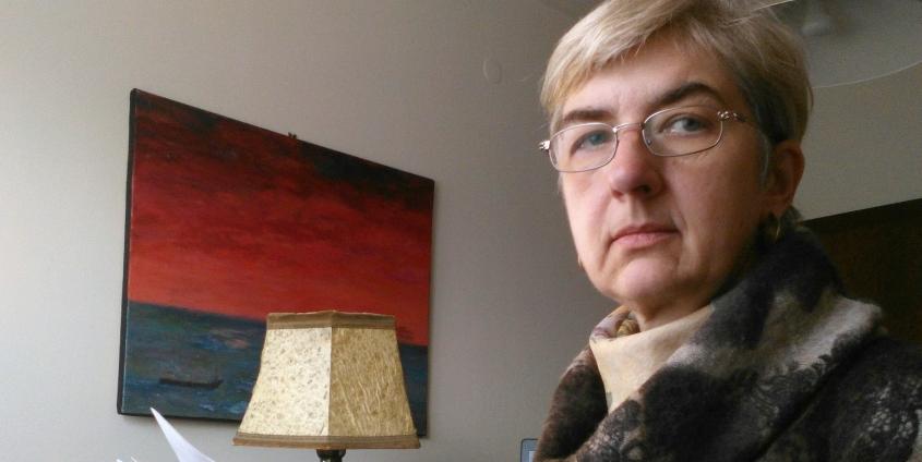 Ursula Doleschal im Homeoffice