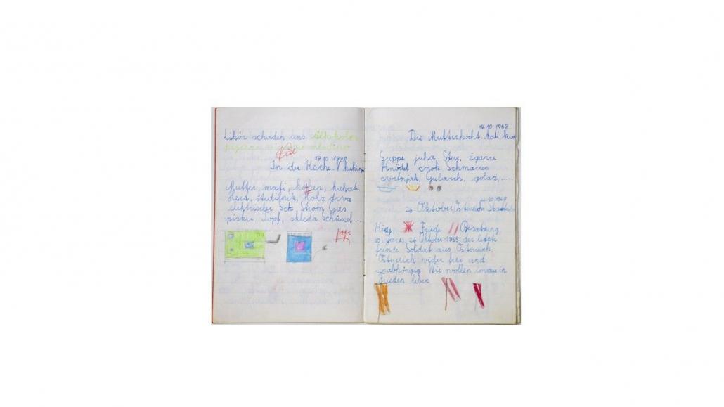 Schulheft von Maja Haderlap, 1968