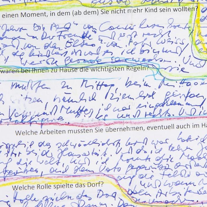 Interviewmanuskript von Josef Winkler | Ausschnitt