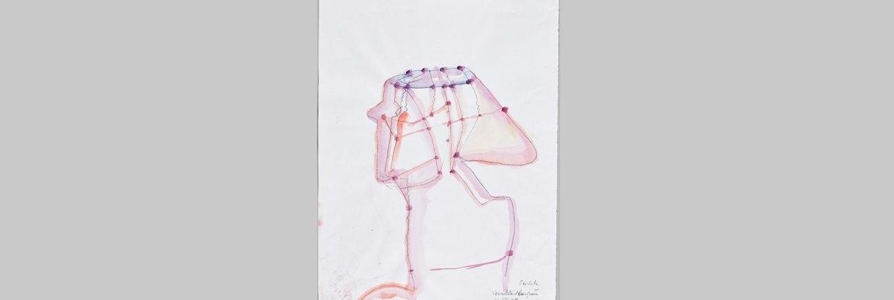 Maria Lassnig: Vernetzte Almfrau, 1995 | Maria Lassnig Stiftung