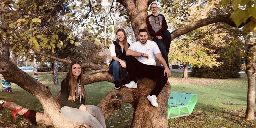 "Das Siegerteam ""Study-Buddy"" v.l.n.r. Vanessa Frank, Hannah Zappe, Michael Petschenig und Laura Napetschnik | Foto: KK"