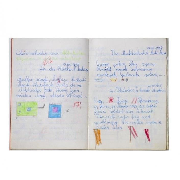 Schulheft von Maja Haderlap, 1968, Musil-Literaturarchiv