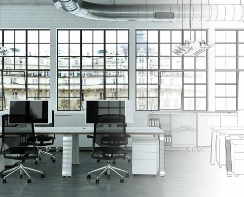 Leeres Großraumbüro | Foto: virtua73/Adobestock