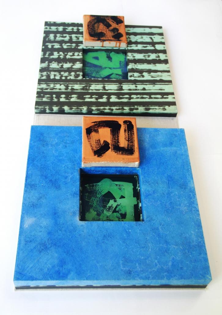 Künstlerbuch von Claudia Hirtl aufgeschlagen