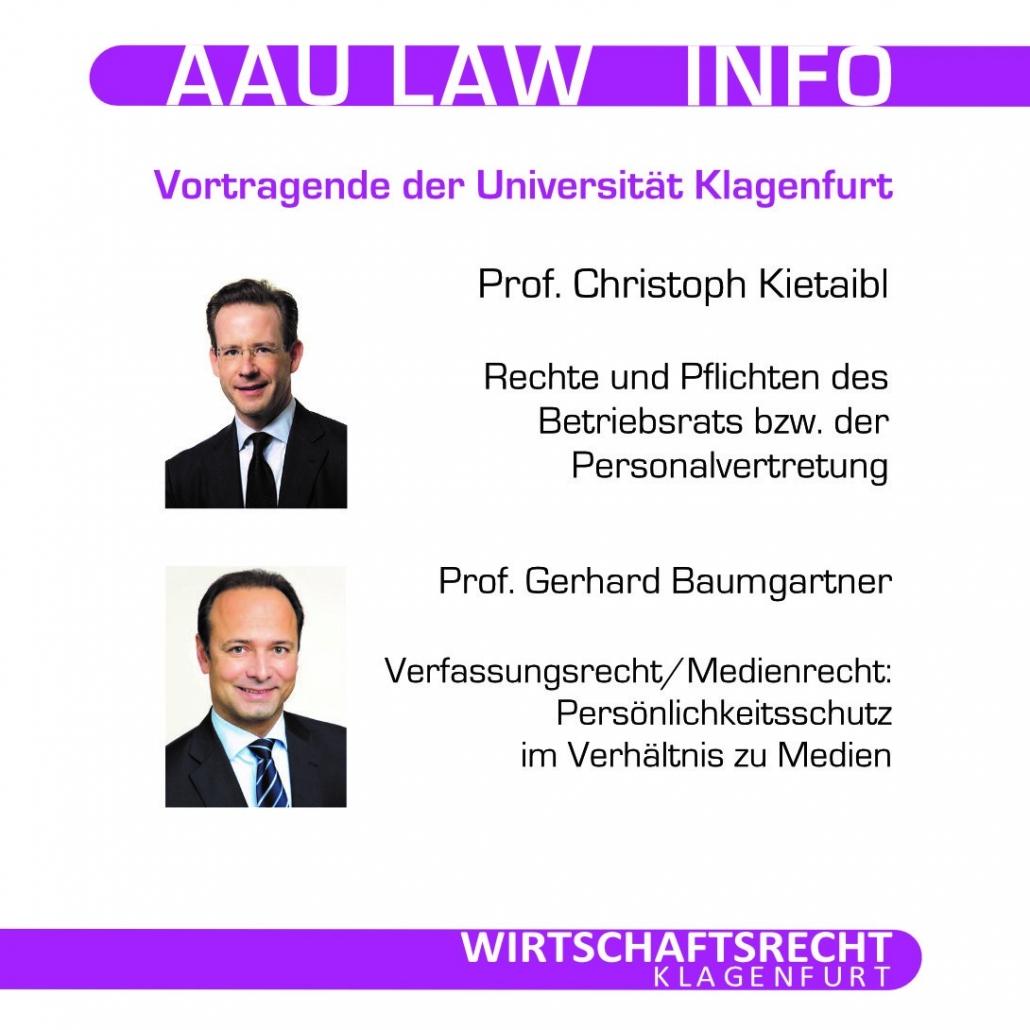 Vortragende der Uni Klagenfurt