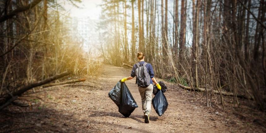 Müll sammeln in der Natur | Soziale Innovation
