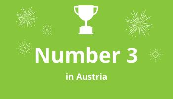 Grafik Rankings Number 3 in Austria