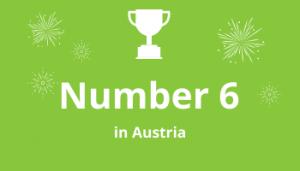 Grafik Rankings Number 6 in Austria