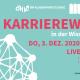 Plakat Karrierewege in der Wissenschaft im Wintersemester 2020