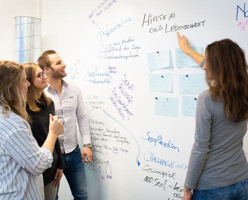 Studierende beim Innovoationsinkubator vom Karriereprogramm interactive!